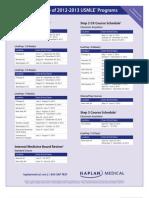 US USMLE Schedules