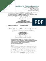 Bolivar_Políticas educativas de reforma e identidades profesionales