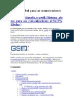 Sistema global para las comunicaciones móviles