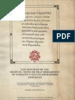 Sahagún_Coloquios y doctrina cristiana