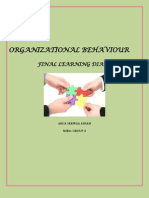 Organizational Behavior Learning Diary