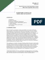 FED OCC Guidance on Model Risk Management
