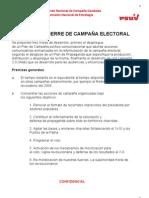 PLAN DE CIERRE DE CAMPAÑA