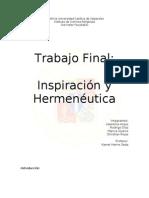 Trabajo Inspiracion y Hermenéutica