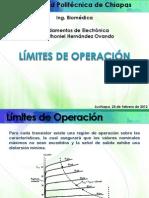 3.6. Límites de Operación