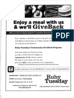 East Haven Ruby Tuesday's Giveback