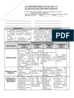 Rubrica Ensayo Interdisciplinario 2012
