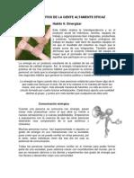 LOS 7 HÁBITOS DE LA GENTE ALTAMENTE EFICAZ