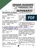 Seminario de Aritmetica- Algebra