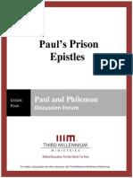 Paul's Prison Epistles - Lesson 4 - Forum Transcript