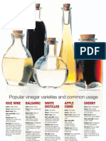 Vinegar Varieties Chart