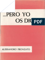 Pronzato, Alessandro - Pero Yo Os Digo