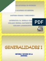 Generalidades i(Estudio de La Anatomia)