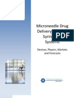 Microneedle Drug Delivery Patches & Syringes Report Prospectus