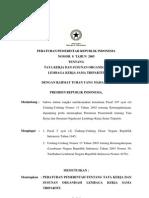 Pp No 8 Th 2005 Ttg Tata Kerja Dan Susunan Organisasi Lks Tripartit
