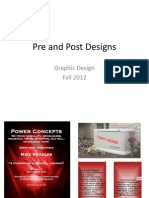 Pre and Post Designs Assignment