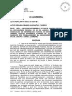 Centro Acadêmico Cândido de Oliveira CONDENADO em AÇÃO POPULAR de EDUARDO BANKS