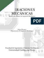 Operaciones Mecanicas Metalurgia UCN