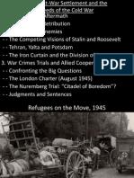 Lecture 12 - Post-War Settlement and War Crimes Trials