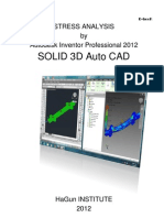Stress Analysis by Autodesk Inventor Object 3D Auto CAD