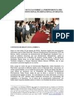 Verdades Ocultas sobre el Tribunal Constitucional Plurinacional de Bolivia