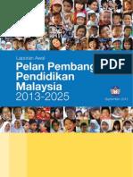 Draf Awal Pelan Pembangunan Pendidikan Negara 2013 2025