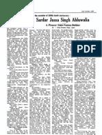 Sardar Jassa Singh Ahluwalia - A Pioneer Sikh Nation Builder