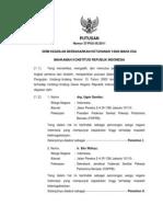 Putusan Mahkamah Konstitusi No 37 Th 2011 Tentang Ketenagakerjaan = MENGABULKAN