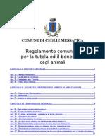 Regolamento Comunale Per La Tutela Degli Animali (COMUNE CEGLIE) BOZZA (1)