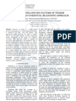 Study of Influencing Factors of Tender Evaluation