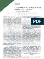 Academic Talent Model Based on Human Resource Data Mart