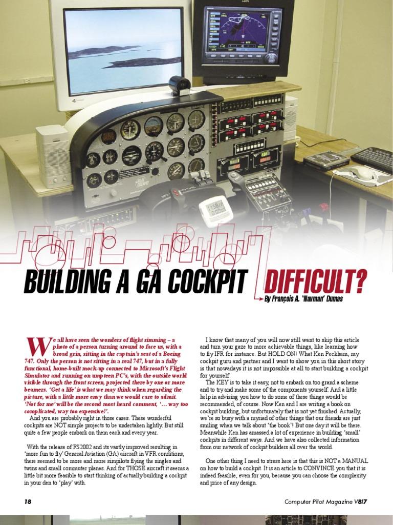 flight simulator cockpit project cockpit computer keyboard rh scribd com Cockpit Door Building a Yurt