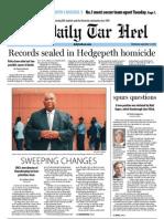 The Daily Tar Heel for September 12, 2012