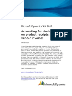 Accounting for Stocked Items on Product Receipts and Vendor Invoices