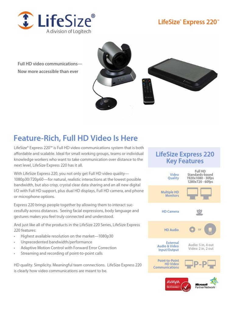 LifeSize Express 220 Datasheet En   Display Resolution   High ...