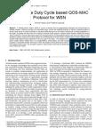 An Adaptive Duty Cycle based QOS-MAC Protocol for WSN