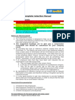 Sample Template Induction Manual