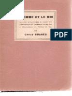 L'homme et le Moi, par Carlo Suarès