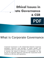 Ethical Issues in Corp. Governance