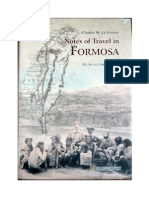 Notes of Travel in Formosa
