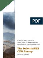 SEB/Deloitte CFO Survey – decreasing optimism going forward