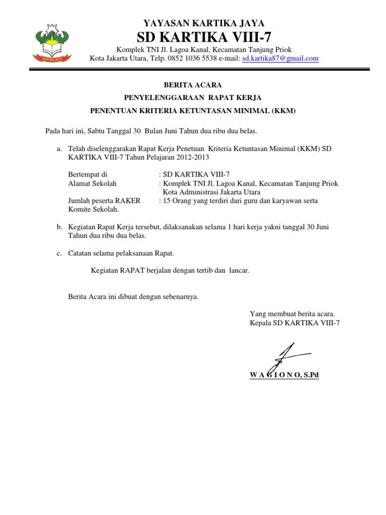 Ornisie Blog Archive Contoh Notulen Rapat Pembentukan Komite Sekolah