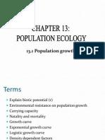 13.1 Populatin Growth