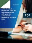Amendments in Taxes-2011