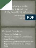 Constitutional Law in Indonesia (1)