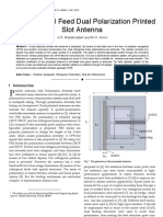 Design of Dual Feed Dual Polarization Printed Slot Antenna