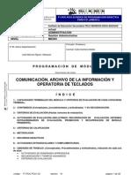 Programación CM comunicacion arch inform y oper tecl