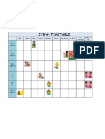 Timetable for Parents 2012-2013 EY2NH Update