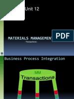 MaterialManagement Transactions