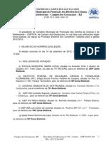 ELEIÇÃO DO CONSELHO TUTELAR - locais de votação e candidatos.